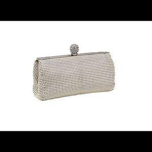 Whiting & Davis silver mesh crystal ball clutch